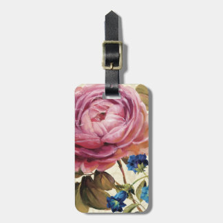 Pink Rose in Full Bloom Luggage Tag