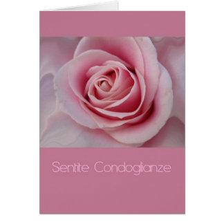 pink rose Italian sympathy card