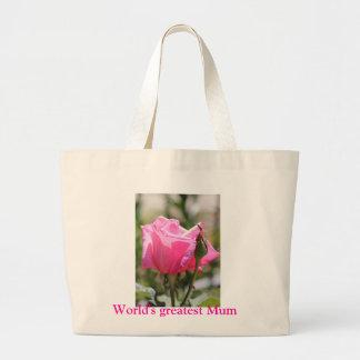 Pink Rose Jumbo Tote Bag