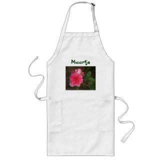 pink rose long apron