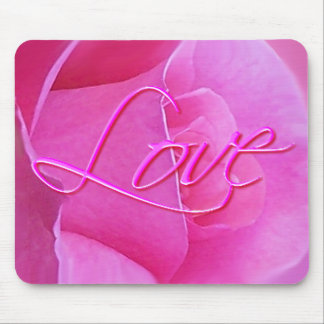 PINK ROSE & LOVE by SHARON SHARPE Mouse Pad