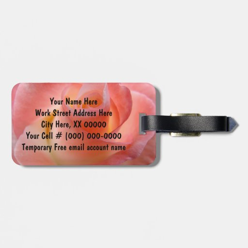 Pink Rose Luggage Tags gifts Vacation Travel tags