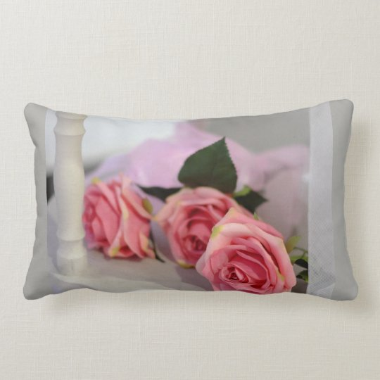 Pink Rose Lumbar Cushion