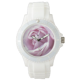 Pink rose macro photography watch