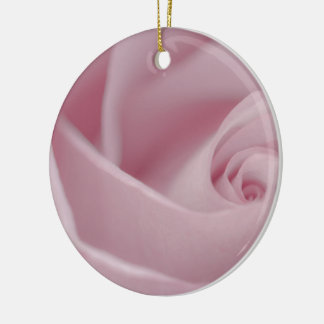 Pink Rose Macro Round Ceramic Decoration