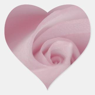 Pink Rose Macro Heart Sticker