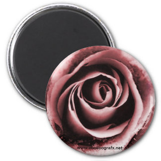 Pink Rose 6 Cm Round Magnet