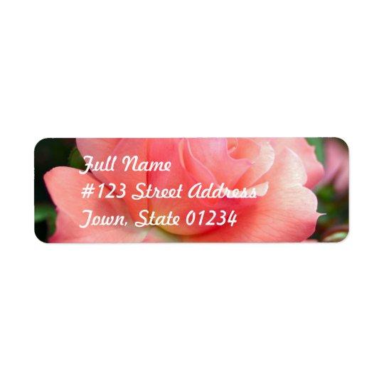 Pink Rose Mailing Label Return Address Label