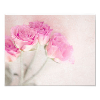 Pink Rose Marble Stone Background Collage Roses Photograph