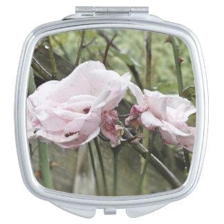 Pink Rose Mirror Makeup Mirrors