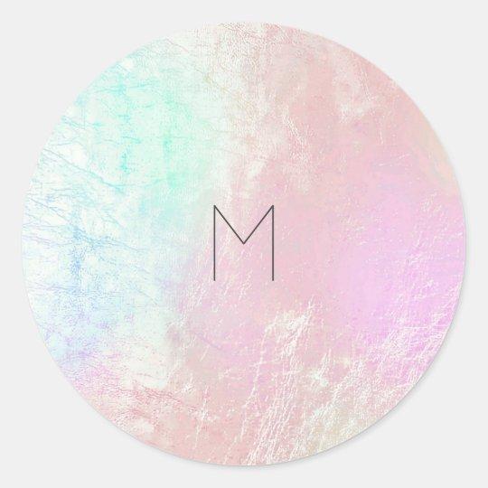 Pink Rose Mother Pearl Blush Metallic Monogram Classic