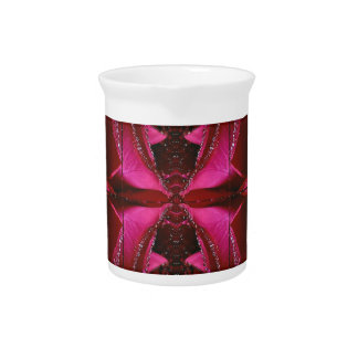 Pink Rose n Honey Bee Sting - Background Pattern Pitcher