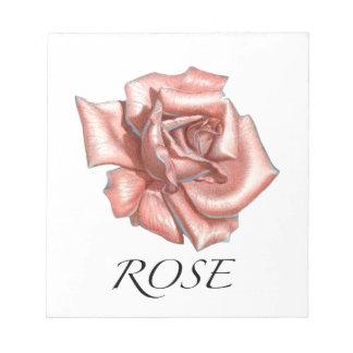 Pink Rose Notepad