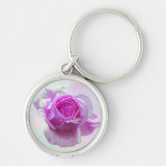 Pink Rose of love Key Chain