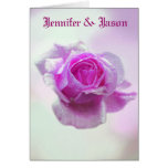 Pink Rose of love - Wedding invitation Greeting Cards