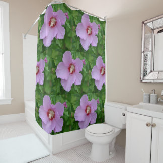 Pink Rose Of Sharon Shower Curtain