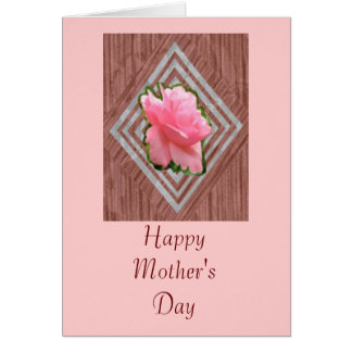 Pink Rose on Lace, Greeting Card