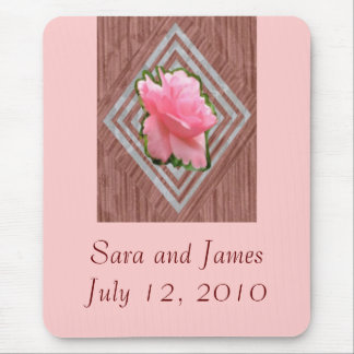 Pink Rose on Lace Mouse Pad
