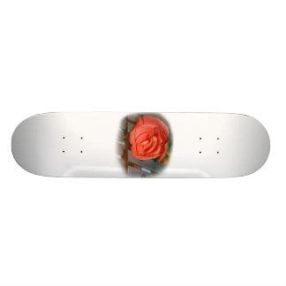 Pink Rose on Metal Mallet Bells 20 Cm Skateboard Deck
