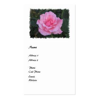 pink rose pack of standard business cards