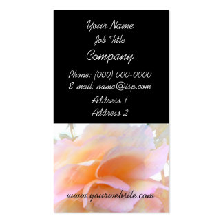 Pink Rose Pastel Profile Card Pack Of Standard Business Cards