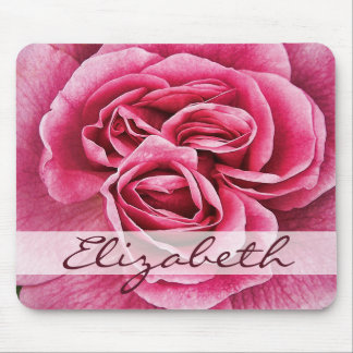 Pink Rose Personalized Mouse Pad