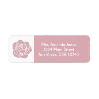 Pink Rose | Personalized Return Address Label