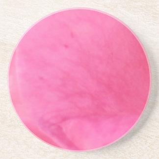 Pink Rose Petal Art  -  Theme Decorations Drink Coaster