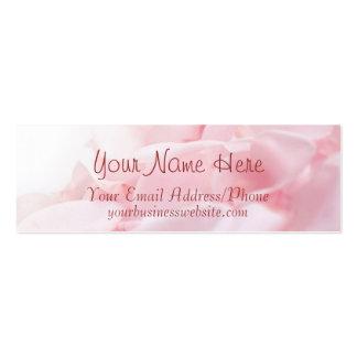 Pink Rose Petals Business Cards