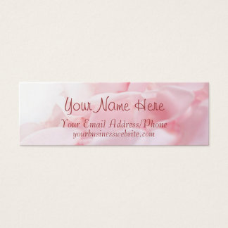 Pink Rose Petals Business Cards