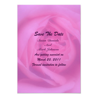Pink Rose Petals Floral Wedding Save The Date Card