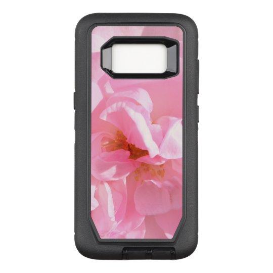 pink rose petals OtterBox defender samsung galaxy s8