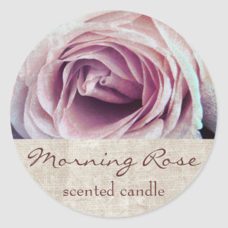 pink rose petals - scented candle or soap label