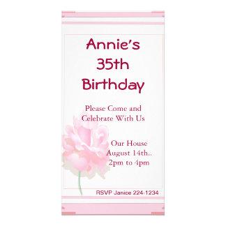 Pink Rose Photo Cards