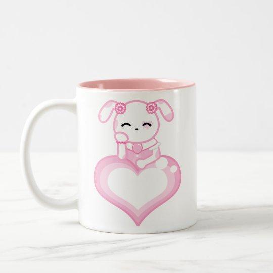 Pink Rose Puppy Mug