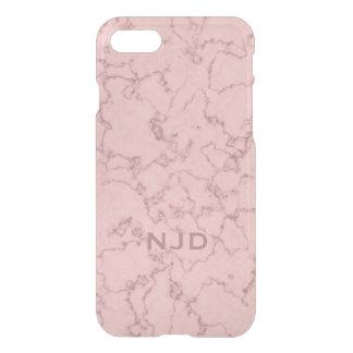 Pink Rose Quartz Marble Personalised iPhone 7 iPhone 8/7 Case