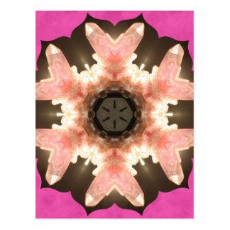 Pink Rose Quartz Pops Postcard
