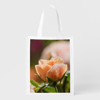 Pink rose reuseable bag