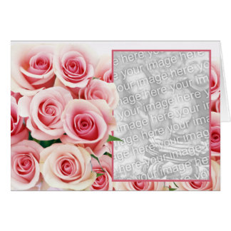 Pink Rose Romance - Template Greeting Cards