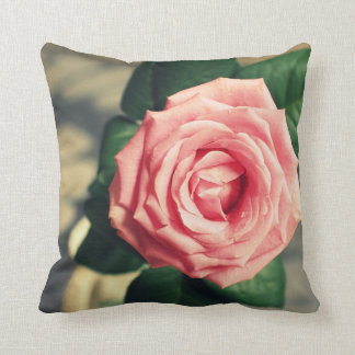 Pink rose, romantic cushion