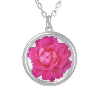 Pink Rose Round Necklace