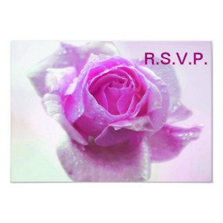 Pink rose - RSVP formal 9 Cm X 13 Cm Invitation Card