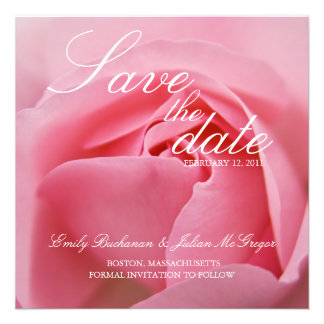 Pink Rose • Save the Date Announcement
