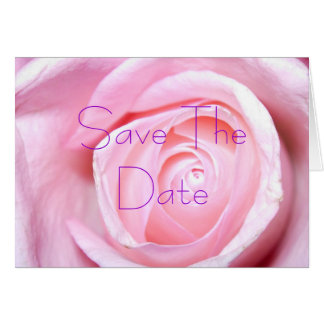 Pink Rose, Save The Date Card