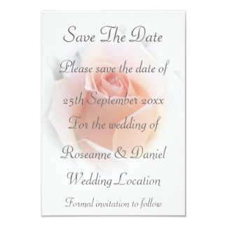 Pink Rose Save The Date Wedding 9 Cm X 13 Cm Invitation Card