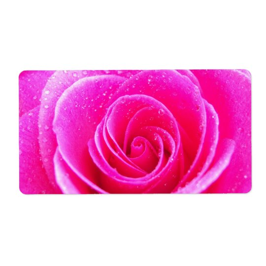 Pink Rose Shipping Label