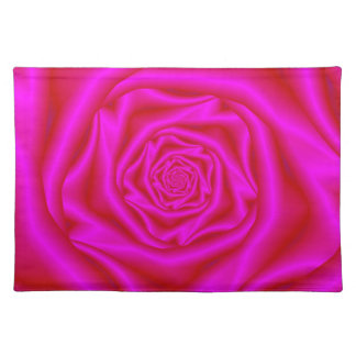 Pink Rose Spiral Placemats