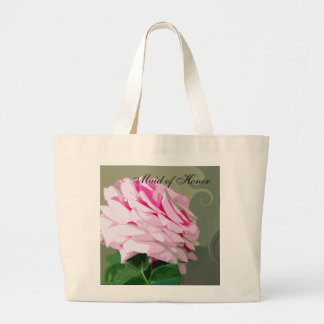 Pink Rose Swirls Wedding Maid of Honour Bags