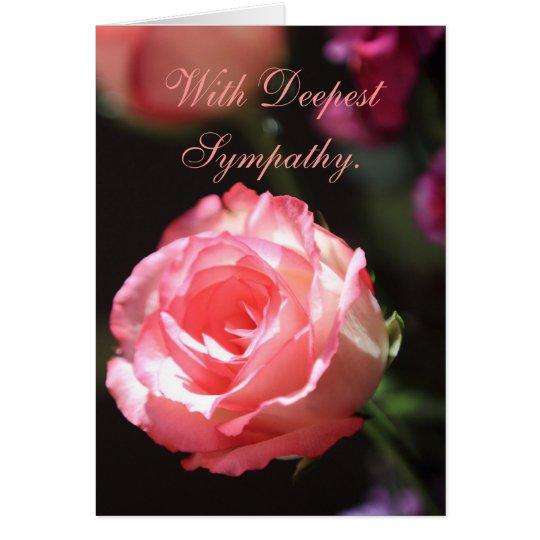 Pink Rose, Sympathy Card