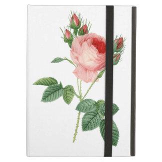 Pink rose vintage botanical illustration case for iPad air